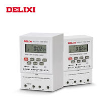 DELIXI AC 220V Programmable Time Switch Relay Digital LCD Power Display Electronic Weekly 7 Days Timer Control for water pump
