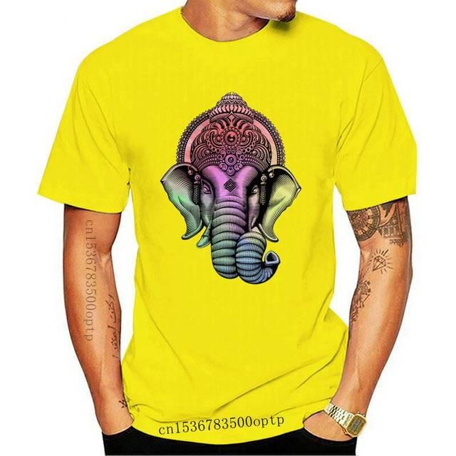 Ganesh Hommes T Shirt Tee Vintage hindou hindusim Dieu éléphant Fashion India Yoga