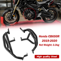 Black Motorcycle Engine Highway Crash Bar Guard Protector for Honda CB650R 2019 2020 CB650R Engine Bumpers Falling protection
