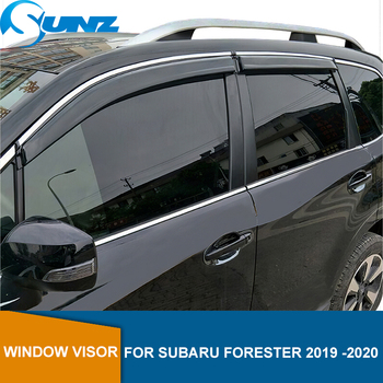 Side Window Deflector For Subaru Forester 2019 2020 Smoke Window Visor Vent Shades Rain Deflector Guard SUNZ window visor vent shades sun rain guard for toyota prado fj120 2003 2009