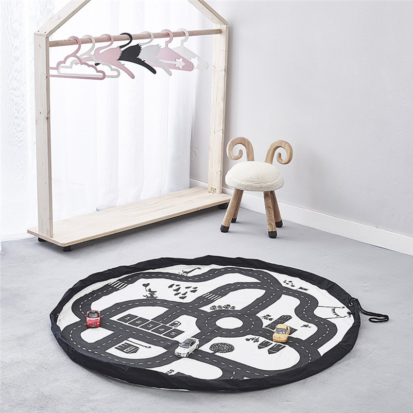 New Car Orbit Play Mat Baby Crawling Blanket Carpet Folding Variable Room Toy Storage Bag Crawling Pad Rug Playmat Waterproof