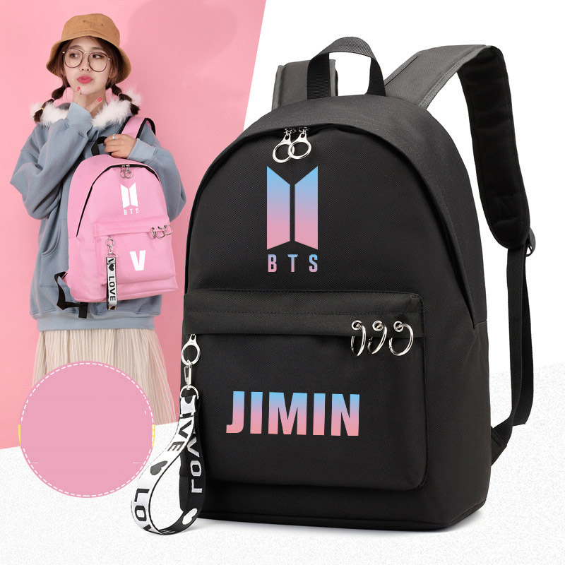 2019 Outdoor Wild Casual Bangtanes Student School Canvas Backpack Boys Kpop Army Bomb Fresh Trend Fan Pouch Bags For Women