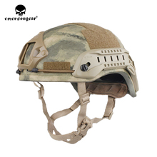 emersongear Emerson Tactical ACH MICH 2001 Hunting Helmet Middle Covered ABS TC 2001 Helmet Advanced w NVG Shroud & Side Rail tactifans tactical paintball medieval iron warrior helmet integrated rail nvg shroud transfer base dial knob combat airsoft