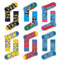 Downstairs Men Happy Socks PopRock Cross Border Streetwear Submarine Bird Figure Design Hip Hop Cotton Compression Socks