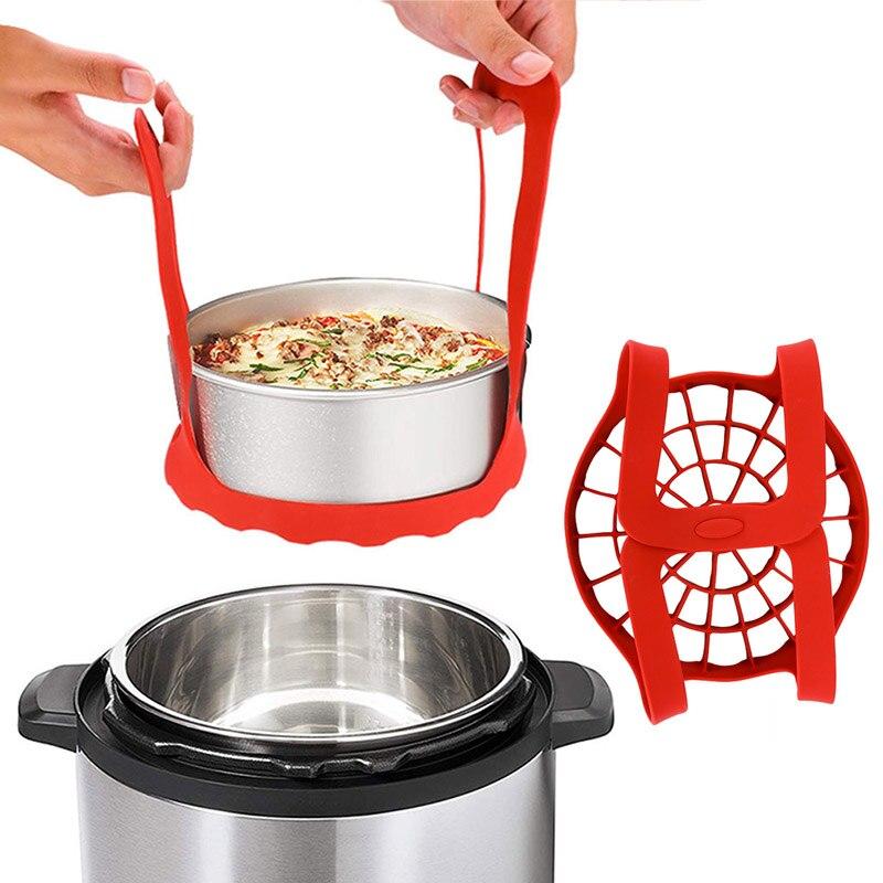 Steamer Silicone Roasting Rack Bakeware Sling Baking Rack Pressure Cooker Sling Egg Rack Silicone Sling Pressure Multi-cookers