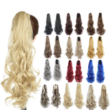 synthetic natural wave ponytail extensions colorful fake overhead tail hairpiece