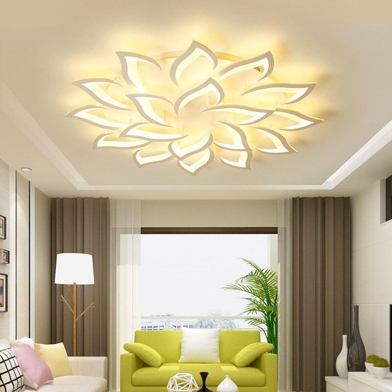Красивый светильник для гостиной с дистанционным управлением, светодиодный потолочный светильник для гостиной, спальни