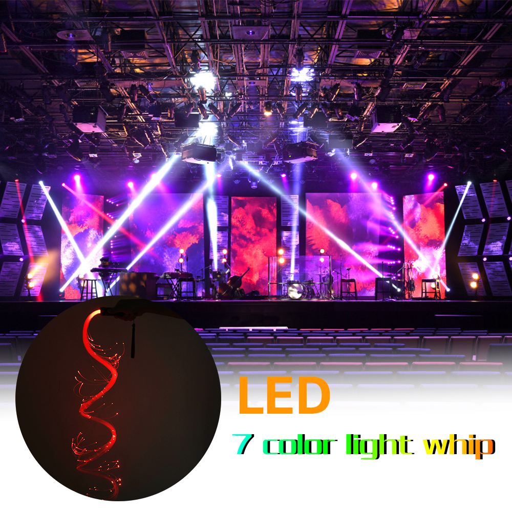 7 colors LED Fiber light Whip Dance Whip 3w fiber optic flashlight for KTV Parties Lights Shows EDM Music Festival image
