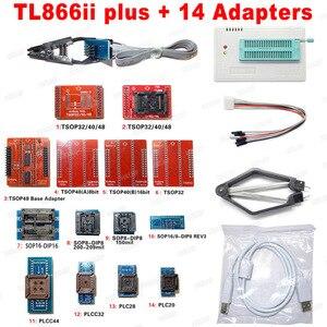 Image 5 - 100% Originele TL866II Plus Bios Programmeur + 14 Adapters Bios Flash Eprom Eeprom TSOP32/40/48 TSOP48 Beter dan TL866A TL866CS
