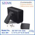 1 piece free shipping aluminum Black electronic metal case box in aluminium enclosures/housing for  GPS car  motor junction box