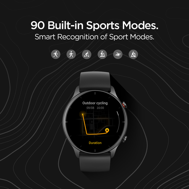 2021 novo amazfit gtr 2e smartwatch 1.39 amamamoled sono qualidade monitoramento 5 atm relógio inteligente para andriod para ios 4