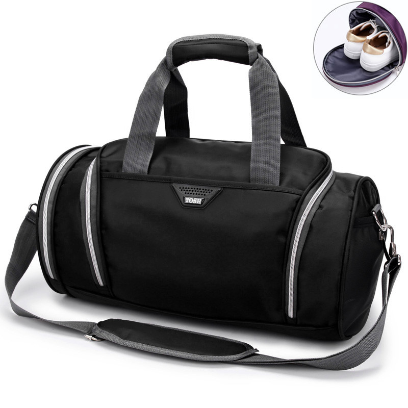 Fitness Bag Cylinder Handbag Men Fitness Handheld Shoes Bags Waterproof Nylon One Shoulder Backpack Sports Women's Yoga Gym Bag