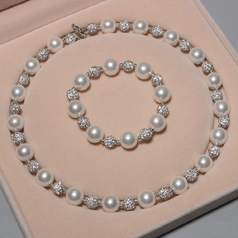 Ensemble de bijoux en perles multicolores pour femme, collier et Bracelet en forme de poire, 12MM