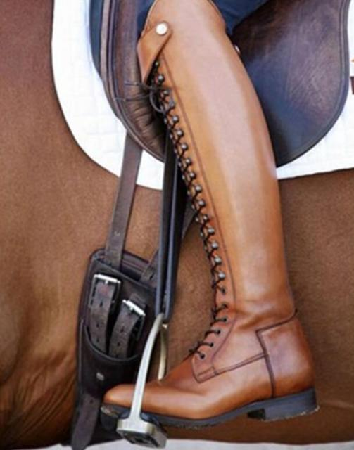 Womens Stylish Leather Equestrian Riding Boots  2