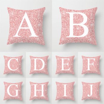Home decor Pink Letter Printed Pillow case cushion Cover Throw Pillow sofa livingroom Decorative body Pillowcase Polyester 45*45 brief marble geometric sofa decorative cushion pillow pillowcase polyester 45 45 throw pillow home decor cushion