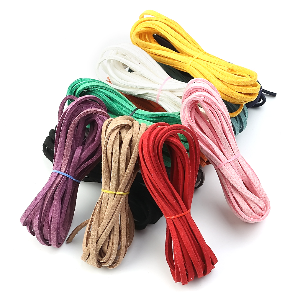 3mm Flat Faux   Suede   Cord String Rope Thread Velvet   Leather   Cords for DIY Making Necklace Jewelry Needlework Accessories