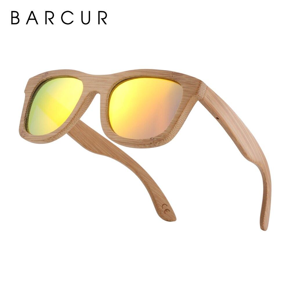 Image 5 - BARCUR الرجعية الرجال نظارات شمسية النساء الاستقطاب النظارات الشمسية الخيزران اليدوية نظارة شمسية خشبية الشاطئ نظارات خشبية Oculos دي سولsunglasses retroglasses with boxglasses with -