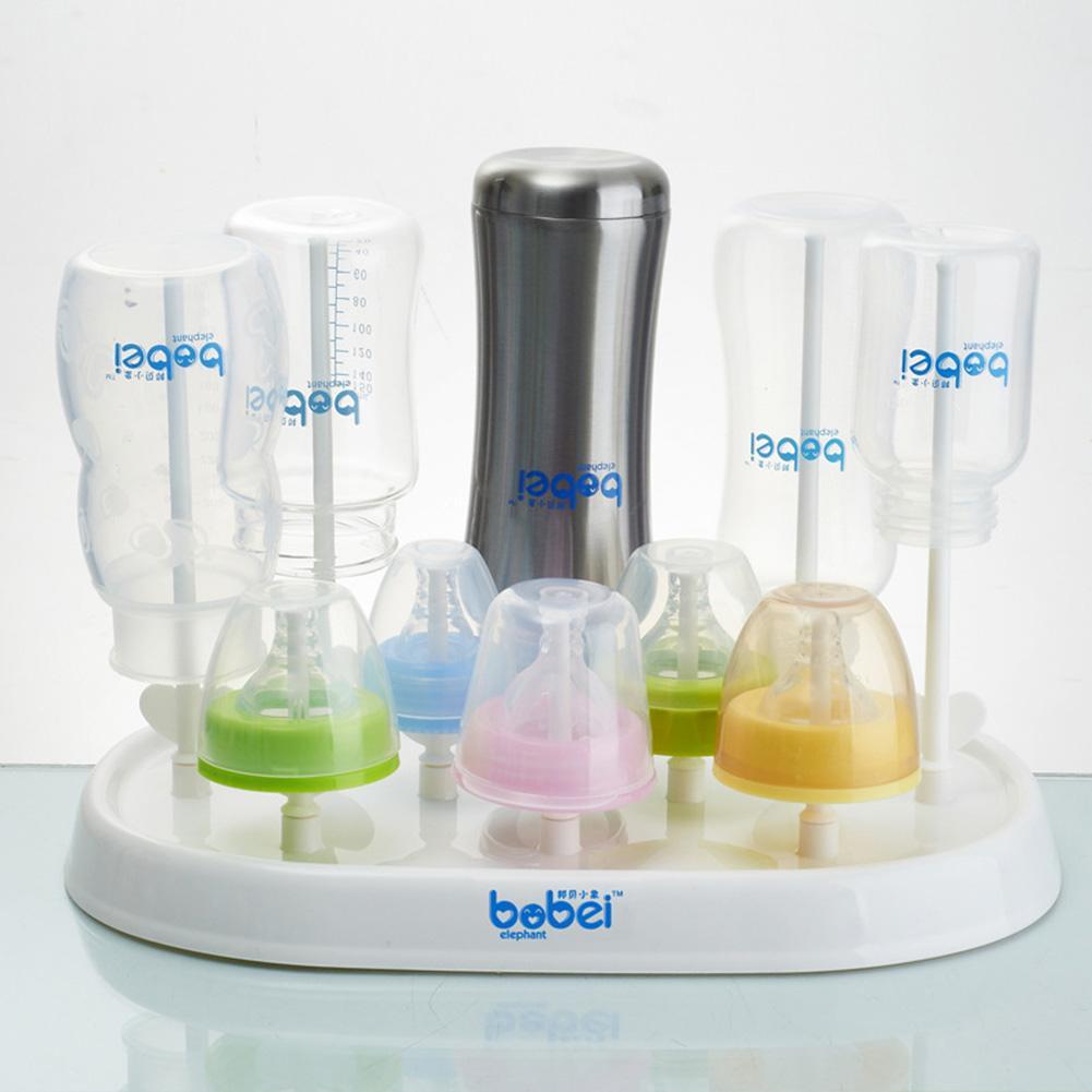 Mini Infant Reborn Baby Feeder Bottler Drying Rack Nipple Holder Storage Stand With Lid
