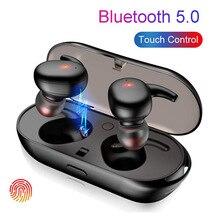 T04 TWS Bluetooth אוזניות אלחוטי אמיתי אוזניות מגע בקרת אוזניות ספורט דיבורית Bluetooth 5.0 אוזניות עם מיקרופון