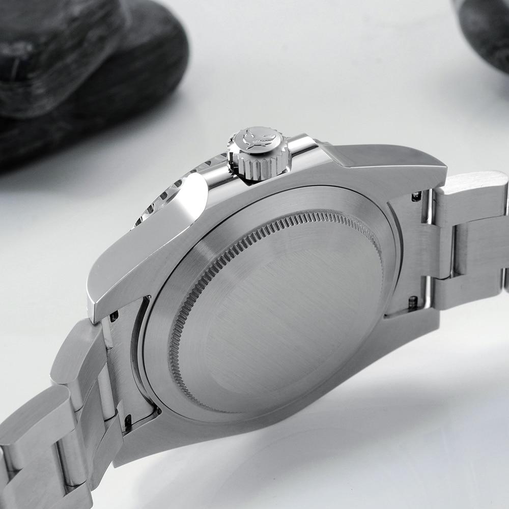 San Martin Diver Water Ghost Luxury Sapphire Crystal Men Automatic Mechanical Watches Ceramic Bezel 20Bar Luminous Date Window 4