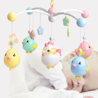 New Baby Rattles Crib Moving Rotating Bed Mobile Toy Holder Musical Box Projection 0 12 Months Newborn Infant Toys