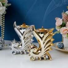В форме морского конька керамическая курильница керамический