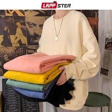LAPPSTER Men Solid 22 Colors Harajuku Hoodies 2020 Mens Autumn Korean Fashions Oversized Sweatshirts Japanese Streetwear Clothes