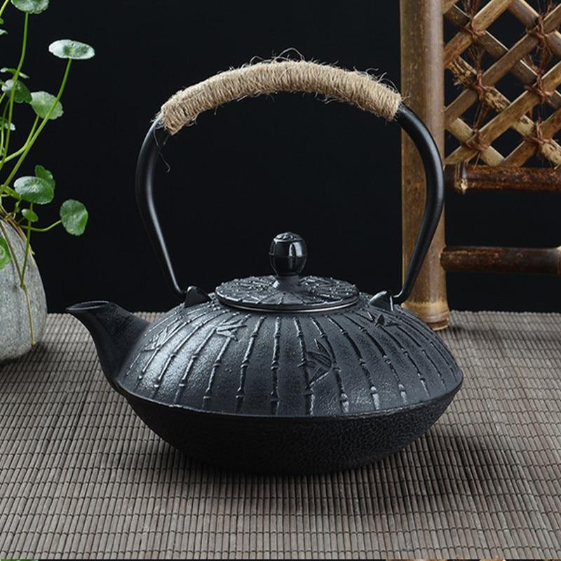 Boiling Tea Iron Kettle Cast Iron Teapot Pig Iron Tea Pot Kungfu Tea Health Iron Pot Oxidized Uncoated Iron Teapot