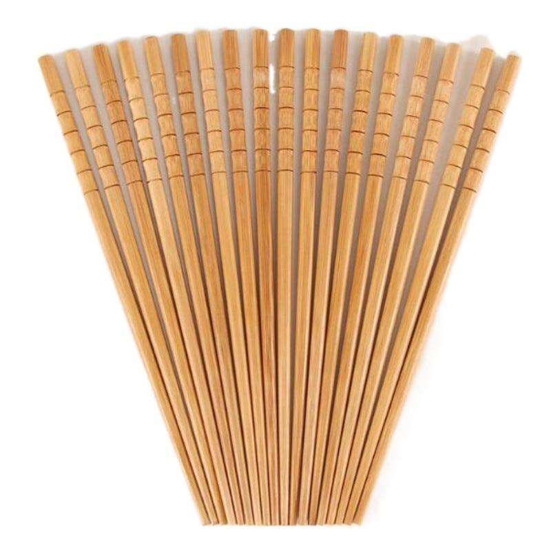 5 Pairs Handmade Natural Bamboo Wood Chopsticks Healthy Chinese Carbonization Chop Sticks Reusable Sushi Food Stick Tableware