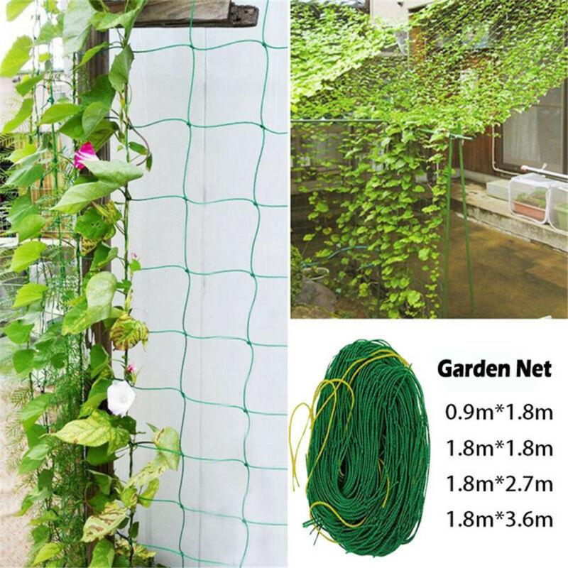 4 Size Mesh Polyester Net Loofah Netting For Morning Glory Vine Flowers Garden Plants Climbing Net Cucumber Vine Grow Holder