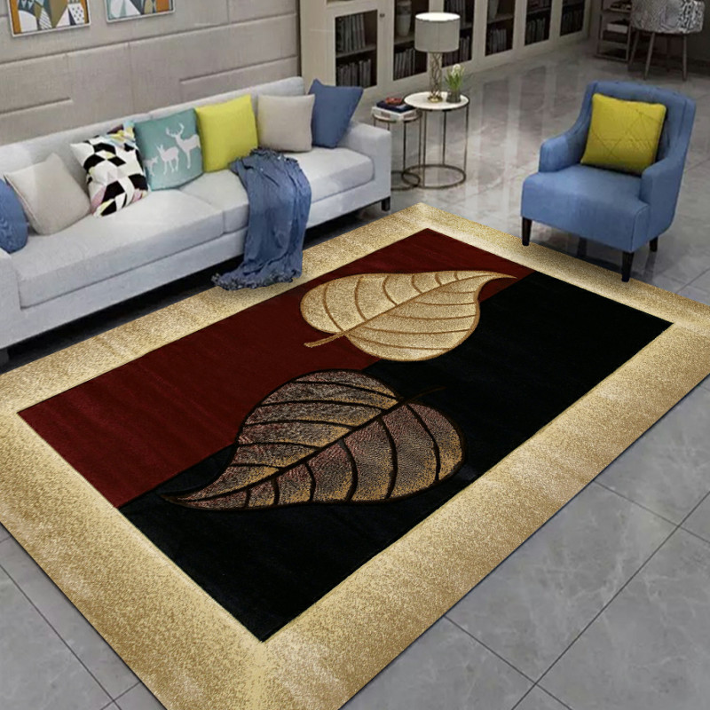 New Nordic Style Home Carpet High Quality Creative Leaves 3D Printed Carpets For Living Room Bedroom Area Rug Sofa Tea Table Mat