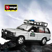 Bburago-Coche de simulación de aleación de metal modelo Land Rover Range Rover, adornos para manualidades, juguete de colección, regalo, 1:24