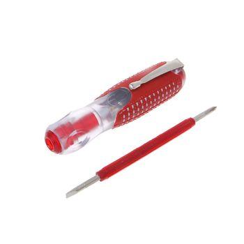 Destornillador con indicador de voltaje de 100-500V, destornillador ranurado, bolígrafo de prueba eléctrica, aislamiento duradero, herramienta doméstica para electricista 35ED