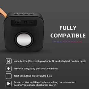 Image 5 - Mini Portable Bluetooth Wireless Speaker Loudspeaker Sound System Stereo Music Surround Outdoor Speaker Support FM Radio TFCard