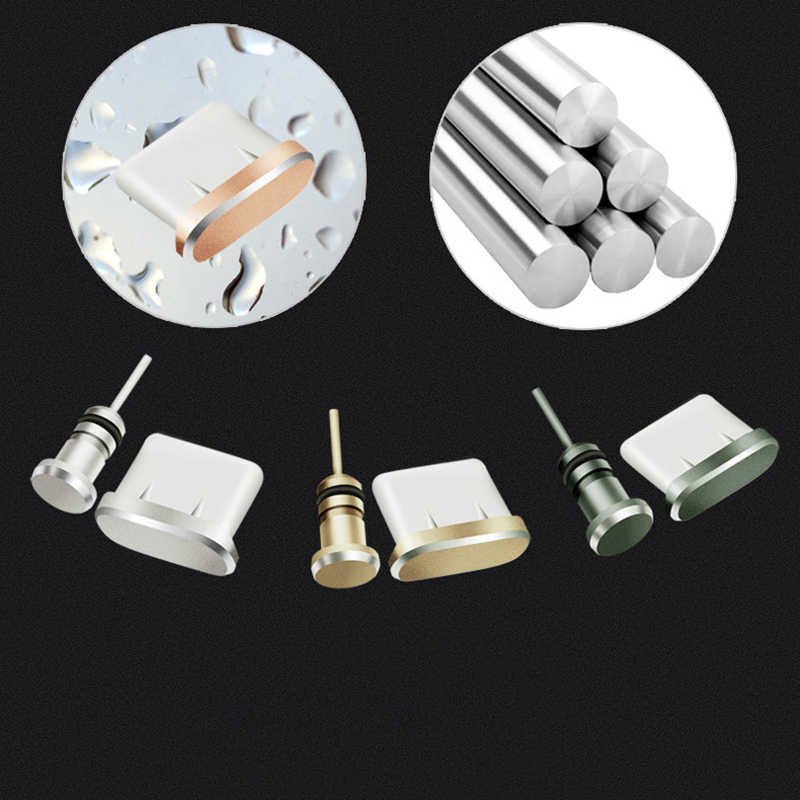 Tipe-C Debu Plug Aluminium Paduan Jenis C Ponsel USB-C Charger Jack Stopper untuk Xiaomi Mi5 Mi6 Huawei p9 P10 Macbook