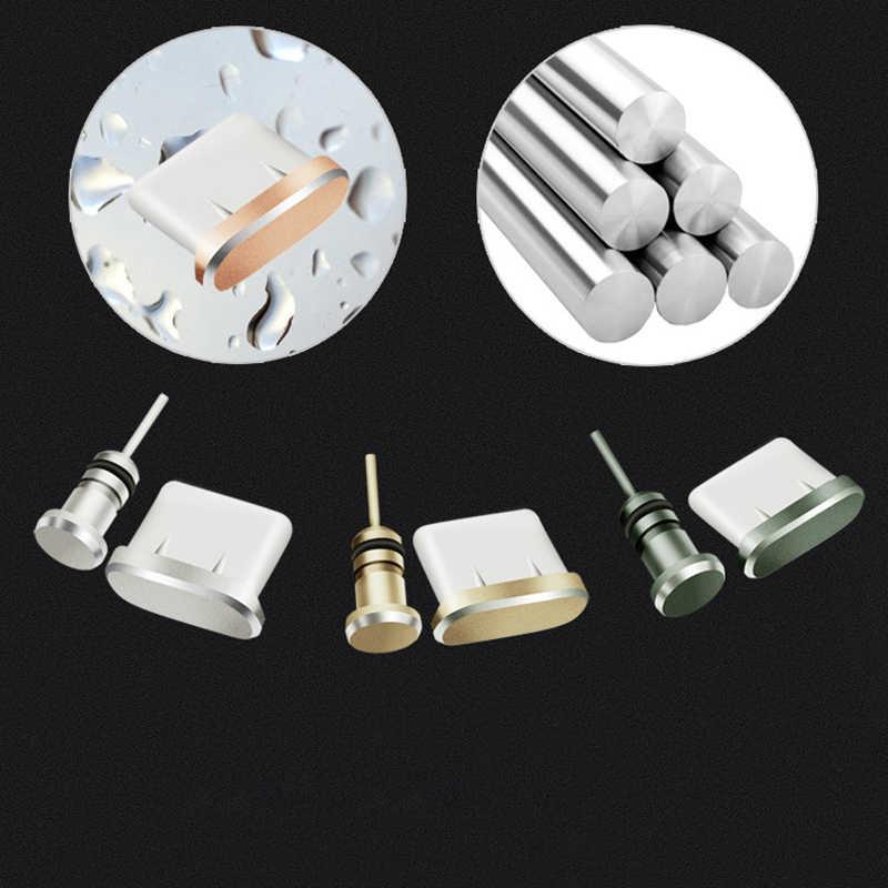 Typu c wtyczka pyłu ze stopu Aluminium ze stopu Aluminium typu c telefon komórkowy USB-C ładowarka Jack Stopple dla Xiaomi Mi5 Mi6 Huawei p9 P10 MacBook