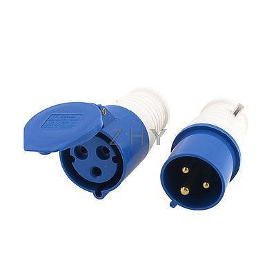 Işıklar ve Aydınlatma'ten Konnektörler'de 32A 220/250V 2P + E IEC309 2 3 Pin Fiş w Su Geçirmez Bağlantı Elemanı Contector Soket title=