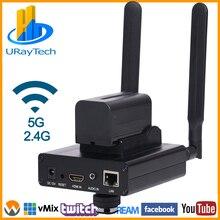 HEVC H.265 MPEG4 H.264 HDไร้สายWIFI IP IP EncoderสำหรับIPTVสตรีมมิ่งBroadcast HDMIวิดีโอSRT RTMP RTMPS RTSP Server