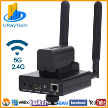 HEVC H.265 MPEG4 H.264 HD Wireless WIFI HDMI IP Encoder for IPTV Live Streaming Broadcast HDMI Video SRT RTMP RTMPS RTSP Server