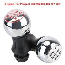 รถ MT เกียร์ Shift Knob Lever Shifter Handle Stick สำหรับ Peugeot 106/1007/206/107/306/307/308/2008/301/3008/406/508/605/807