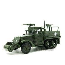 1/72 M3A1 ناقلة أفراد مدرعة شبه مجنزرة الحرب العالمية الثانية الأمريكية خالية من المطاط 4D نموذج التجمع عربة عسكرية اللعب