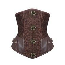 Barvogue espartilhos de couro, corselete de aço com controle de cintura, steampunk, sexy, gótico