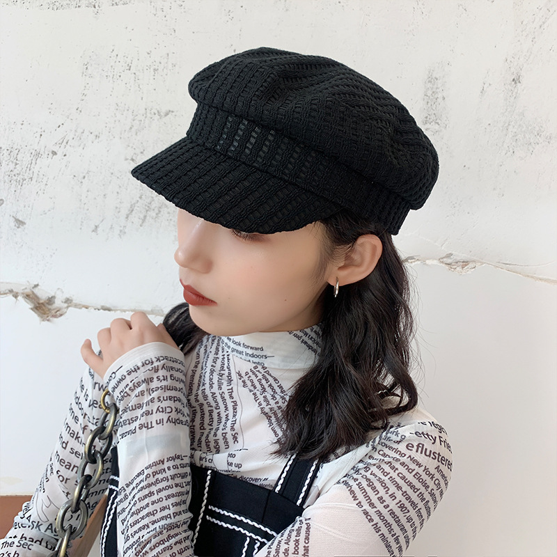Beret Women's Thin Retro Hat Versatile Octagon Hat Chapeau Femme Boina Masculina Gorros Mujer Casquette Femme Chapeu Feminino