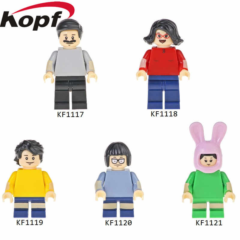 Single Sale Building Blocks Cartoon Series Bob's Burgers Bricks Bob Linda Gene Tina Louise Figures For Children Toys Gift KF6082