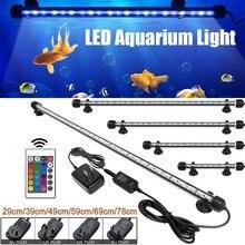 19-69 Cm Aquarium Light Fish Tank Dompelpompen Light Lamp Waterdicht Onderwater Led Verlichting Aquarium Verlichting Rgb Us/ au/Uk/Eu Plug