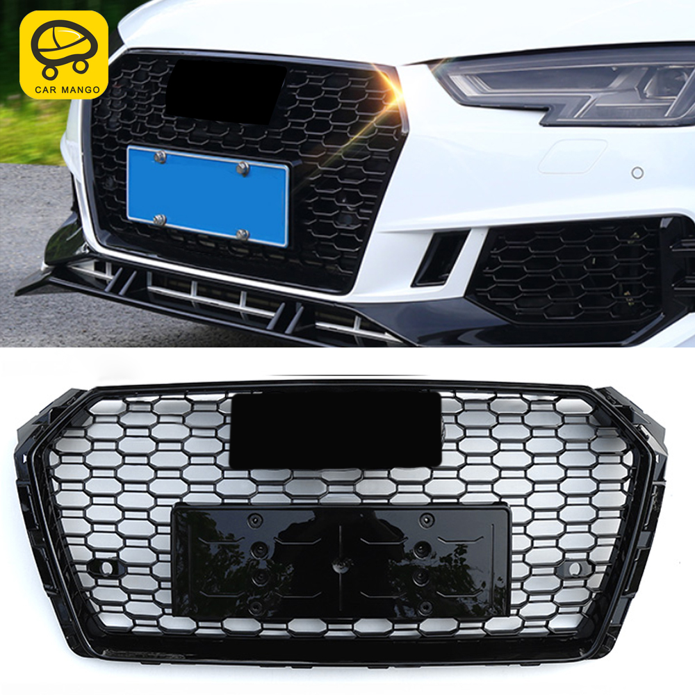 CarManGo For <font><b>Audi</b></font> A4 S4 <font><b>A5</b></font> S5 B9 2017-2020 Front Grille <font><b>Grills</b></font> Net Assembly Frame Decorations Auto Replacement Exterior Parts image
