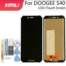 100% اختبار جديد ل DOOGEE S40 شاشة الكريستال السائل + مجموعة المحولات الرقمية لشاشة تعمل بلمس 100% الأصلي LCD + اللمس محول الأرقام ل S40 لايت + أدوات