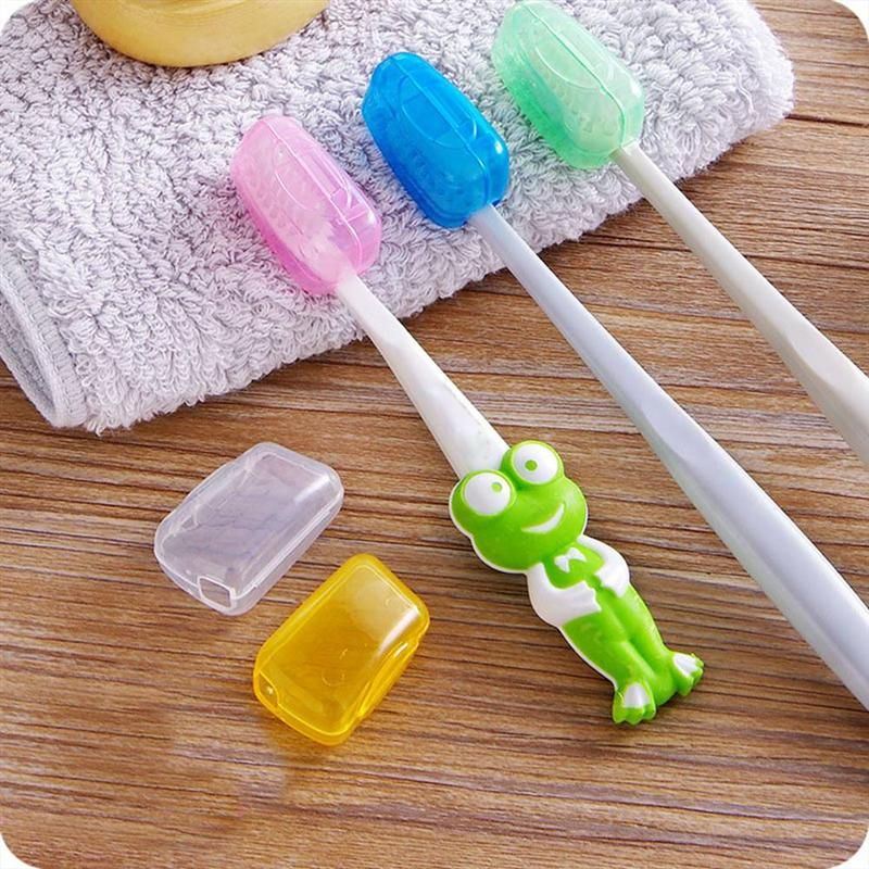 OUNONA 25pcs Toothbrush Cover Cap Portable Toothbrush Storage Cap Tooth brush Protective Cover for Ourdoor Travel Hiking Camping