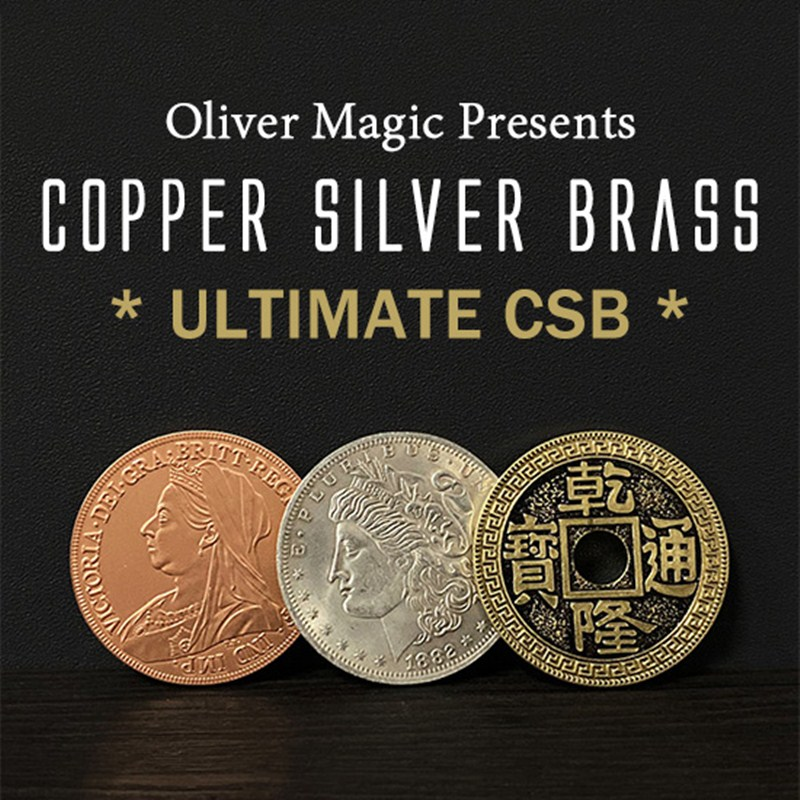 Ultimate CSB 2.0 By Oliver Magic Copper Silver Brass Transposition Close Up Coin Magic Tricks Mentalism Magic Street Gimmicks