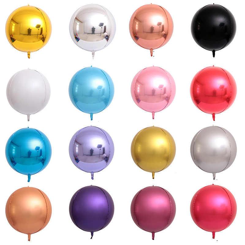 2Pcs 4D 32 22 18 10 inch Ronde Aluminium Folie Ballonnen Metal Ballon Verjaardagsfeestje Helium Ballon Bruiloft Decoratie kinderen Speelgoed